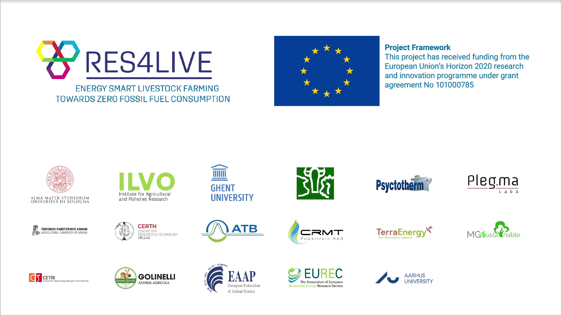 RES4Live Research communication european partners logo