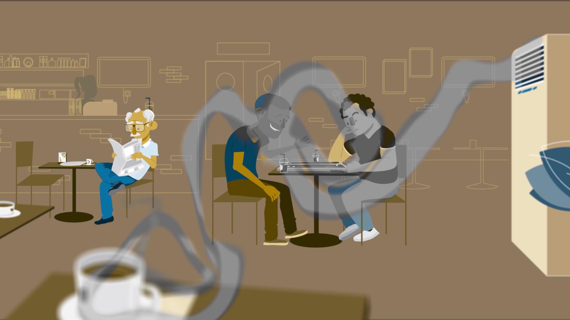 notobaccoday antismoking campaign media animation cyprus_coffee